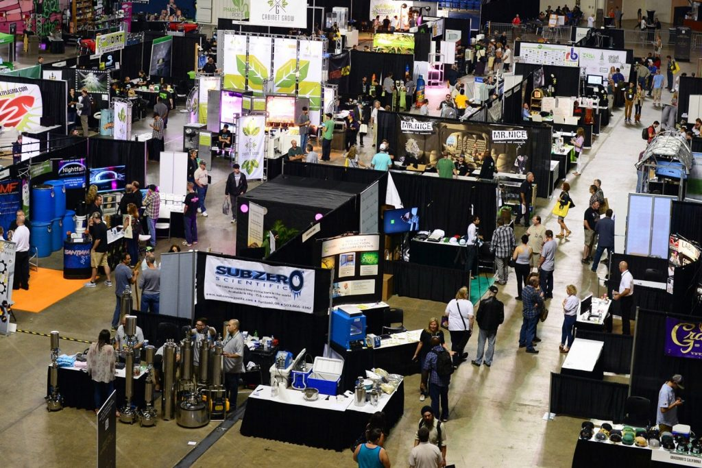 The exhibit floor for CannaCon, a cannabis business convention coming to Detroit in June.